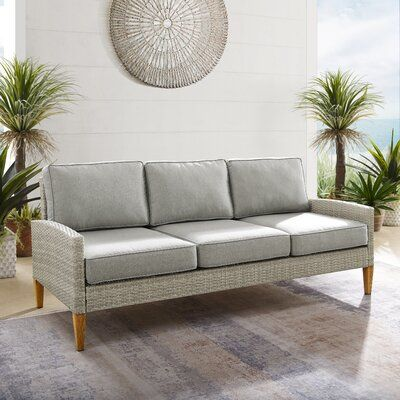 Meacham Outdoor Patio Sofa with Cushions