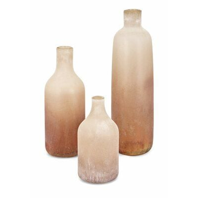 Garson Glass Bottle Table Vase
