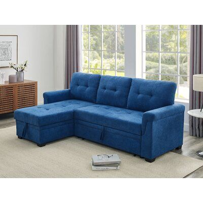 """Whitby 86"""" Wide Reversible Sleeper Sofa & Chaise"""