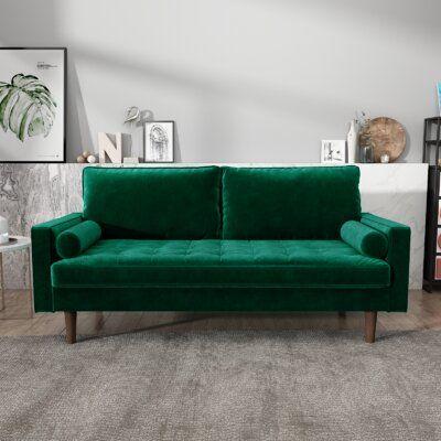 Chretien Velvet 70'' Square Arm Sofa