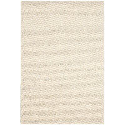 Elle Geometric Handmade Flatweave Ivory Area Rug