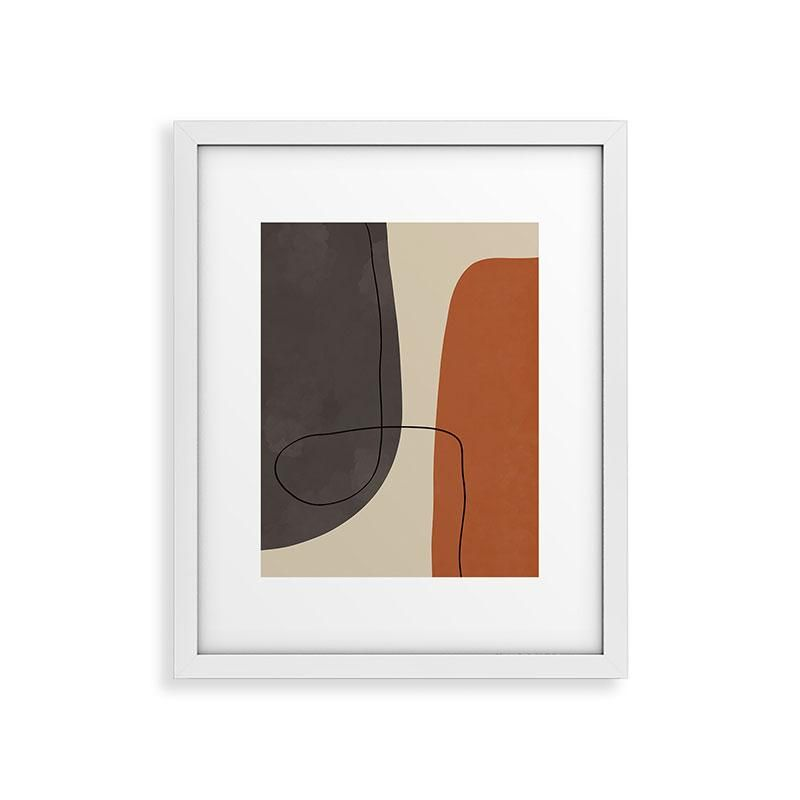 "Framed Art Print Modern White, Modern Abstract Shapes Ii, 24"" x 36"""