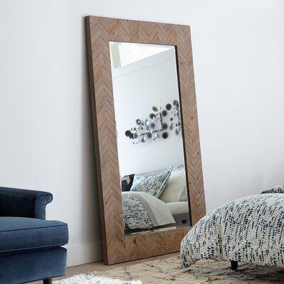 Talmadge Coastal Beveled Distressed Full Length Mirror