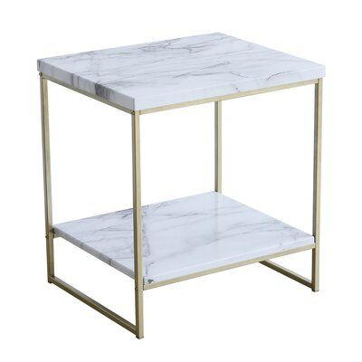 Sperry Sled End Table with Storage
