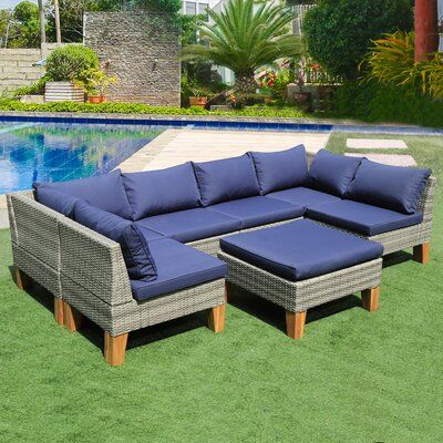 Mccary 7 Piece Sectional Seating Group with Cushions