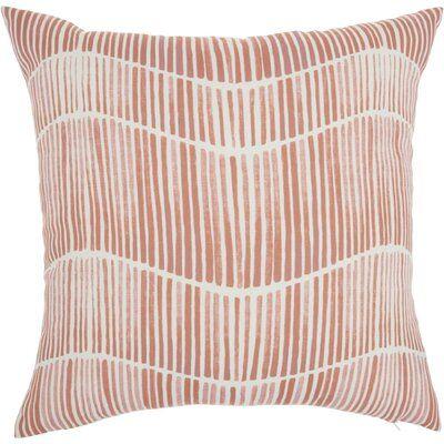 Lieberman Printed Stripes Indoor/Outdoor Throw Pillow