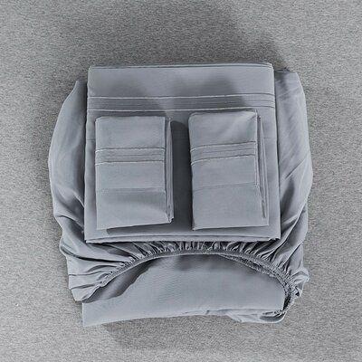 Bedding 4 Piece Bed Sheet Set Solid Color  Comforter Set Made Of Polyester
