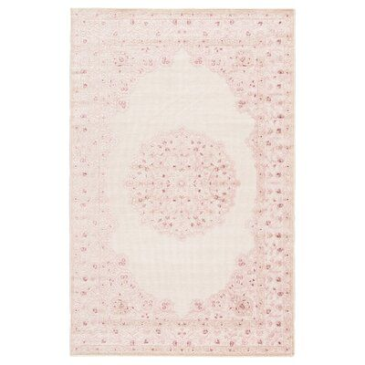 Mcculloch Oriental Pink/White Area Rug
