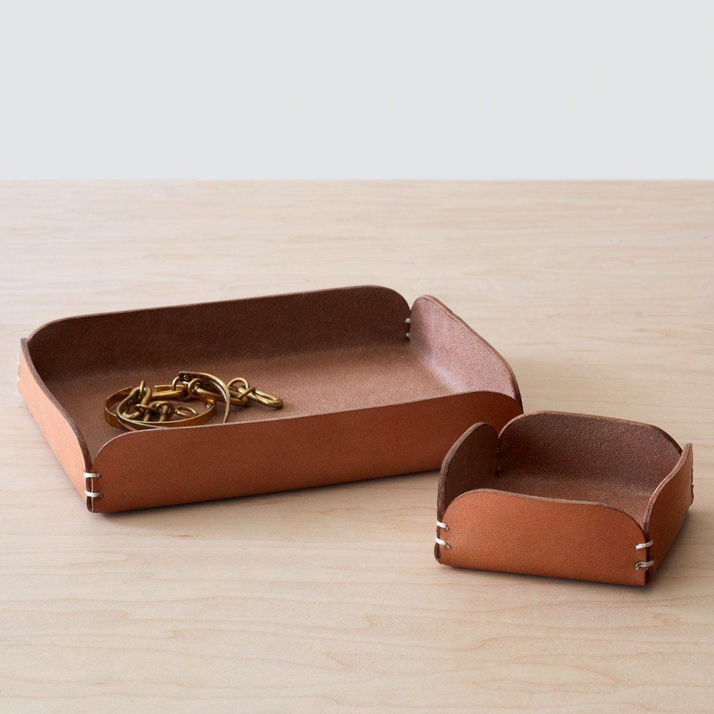Azad Leather Tray - Natural By The Citizenry