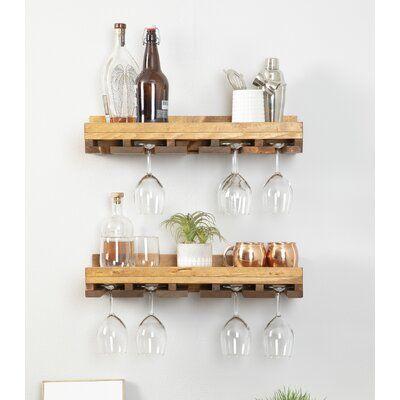 Bernardo Solid Wood Wall Mounted Wine Glass Rack