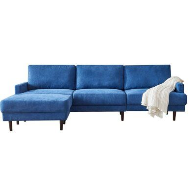Weisgerber 104'' Wide Recessed Arm Sofa Chaise