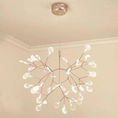 Heberling 45 - Light Unique Modern Linear LED Chandelier