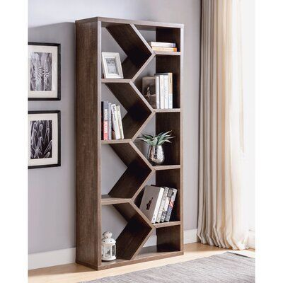 Sion Vertical Accent Geometric Bookcase