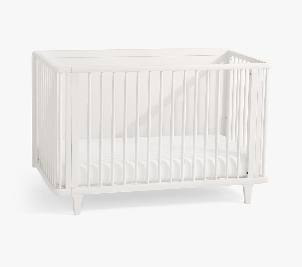 Dawson 4-in-1 Convertible Crib & Lullaby Supreme Mattress Set, Simply White, In-Home Delivery