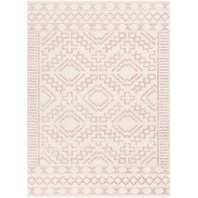 Windley Oriental Distressed Power Loom Pale Pink/Cream Rug