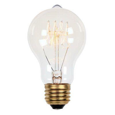 A19 Incandescent, Light Bulb, Soft White (2450K) E26/Medium (Standard) Base