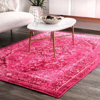 Decker Oriental Pink Area Rug