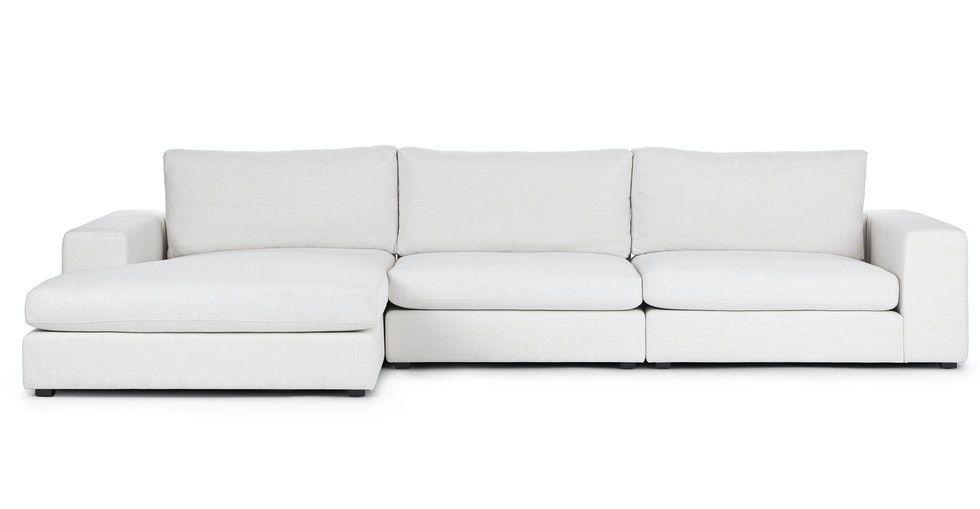 Beta Quartz White Left Chaise Sectional
