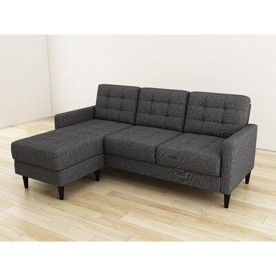 "Ashland 82"" Reversible Modular Sofa & Chaise with Ottoman"