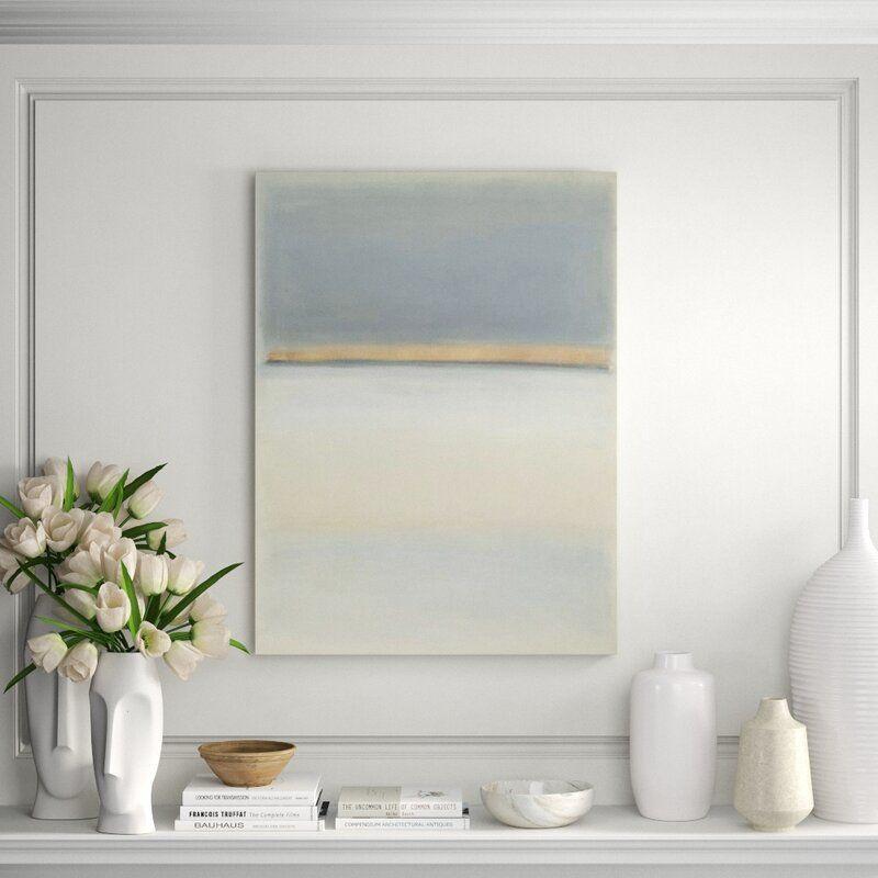 "Chelsea Art Studio 'Blue-Gray Ocean' Print Format: Image Brush Gel on Giclee Canvas, Size: 32"" H x 24"" W"