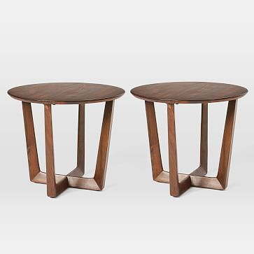 Stowe Side Table, Dark Walnut, Set of 2