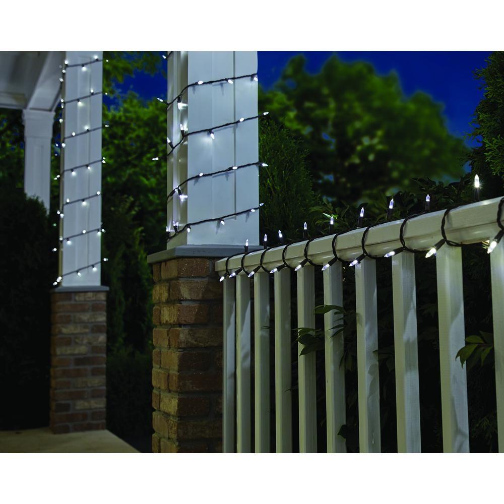 Hampton Bay 100-Light LED Smooth Mini Warm White Garden String Light
