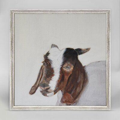 Glaucia Little Goat Portrait Mini Framed Canvas Art