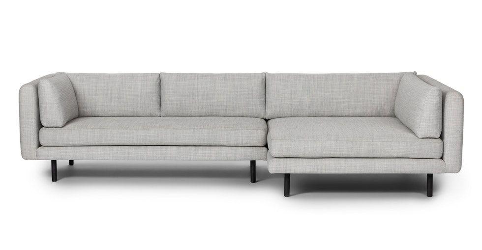 Lappi Serene Gray Right Sectional Sofa