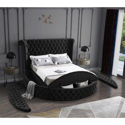 Linford Tufted Upholstered Storage Platform Bed