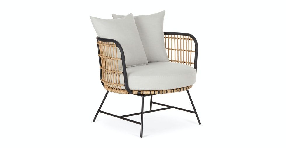 Onya Lily White Lounge Chair