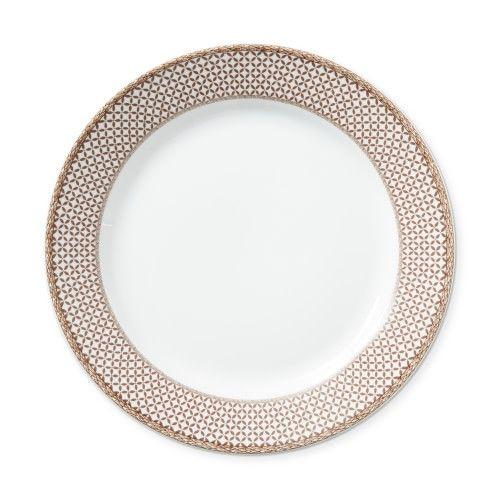 Plymouth Gate Rim Dinner Plates, Set of 4