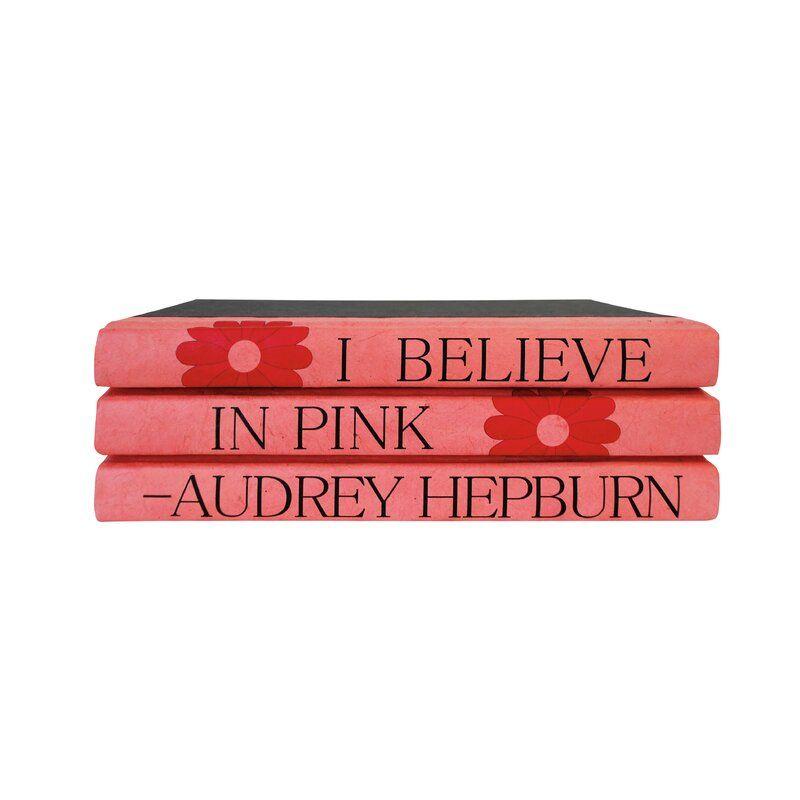 E. Lawrence Ltd. 3 Piece Audrey Hepburn Quote Decorative Book Set