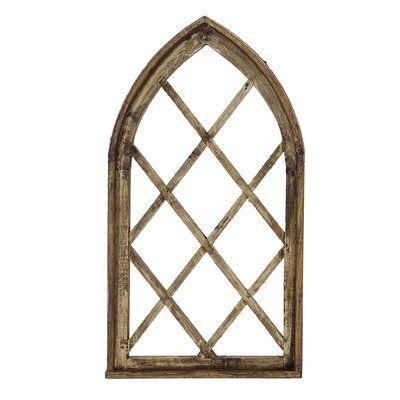 Crossed Window Wall Décor