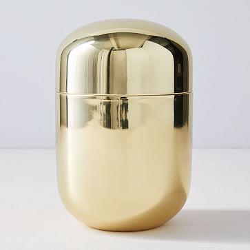 Polished Brass Vanity Box, Large