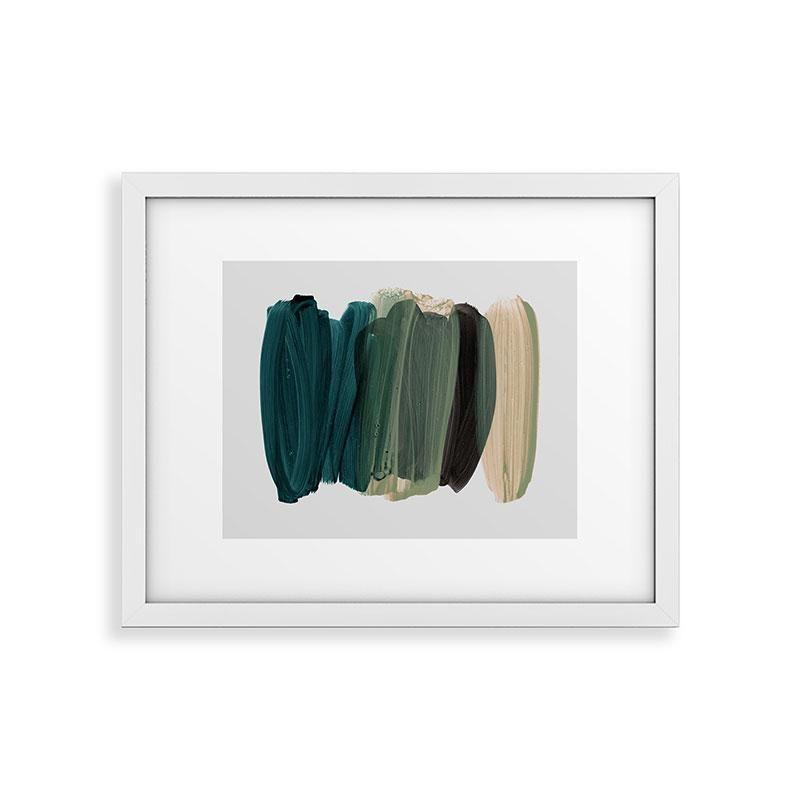 "Framed Art Print Modern White, Minimalism 81, 24"" x 36"""