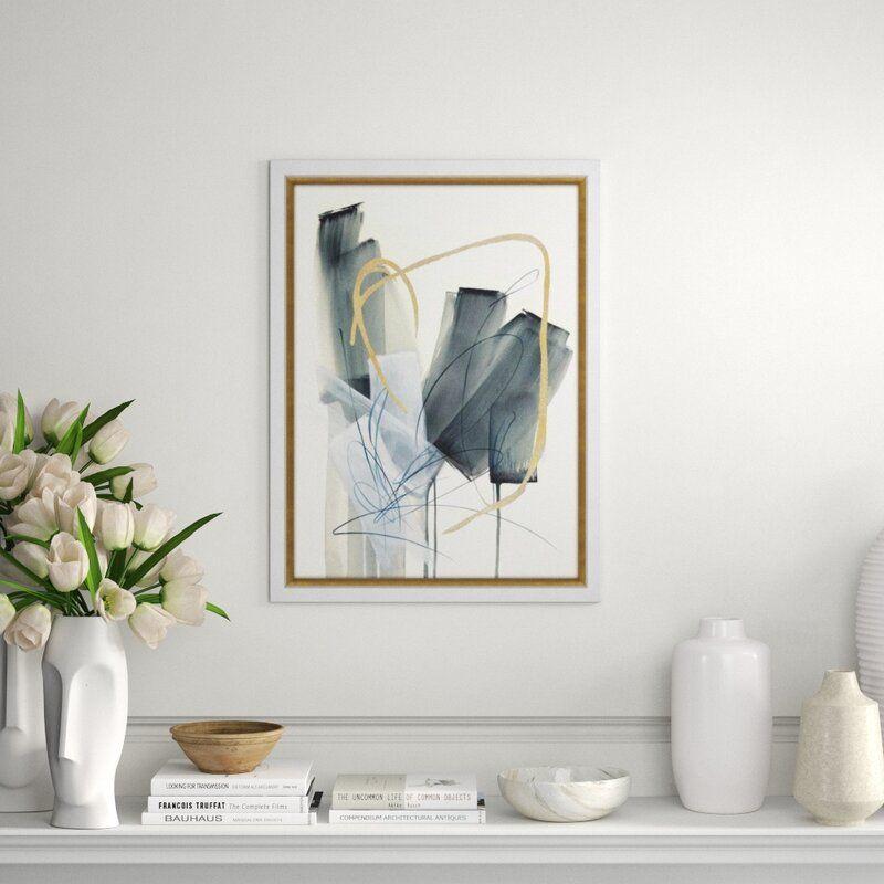 "Chelsea Art Studio 'Neutral Blooms I' by Janice Sadler - Painting Print Format: Gild Gold, Size: 32"" H x 24"" W x 2"" D"