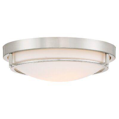 "Aaru 2 - Light 13"" Simple Bowl Flush Mount"