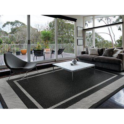 Anamaria Black Indoor / Outdoor Area Rug