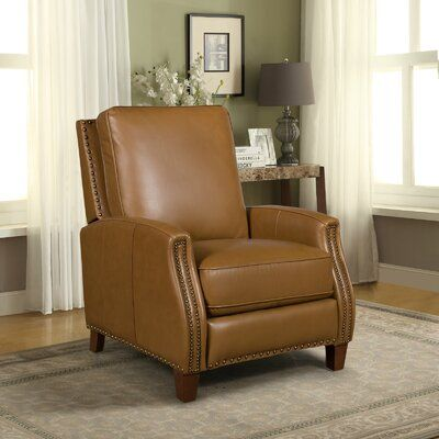 Dayse Genuine Leather Manual Recliner