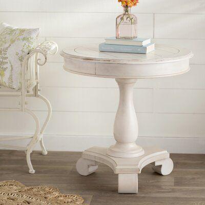 Bezons Pedestal End Table