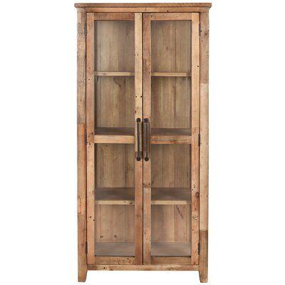 Wallsend Reclaimed Pine Display Curio Cabinet