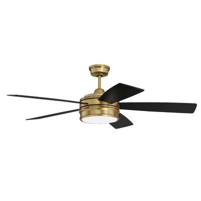 """52"""" Winchcombe 5 Blade LED Ceiling Fan with Remote Light Kit"""