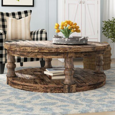 Anner Floor Shelf Coffee Table with Storage