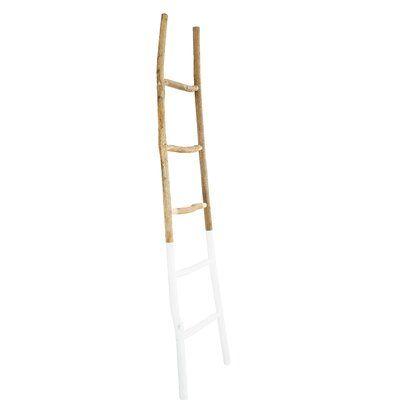 Painted Wood 6 ft Blanket Ladder