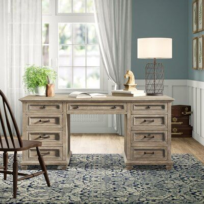 Annetta Solid Wood Executive Desk