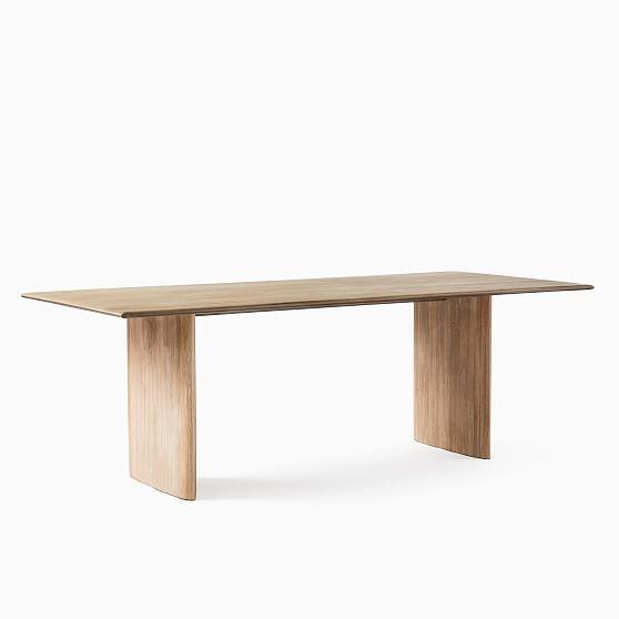 """Anton 86"""" Table, Anton Cerused White, Cerused White"""