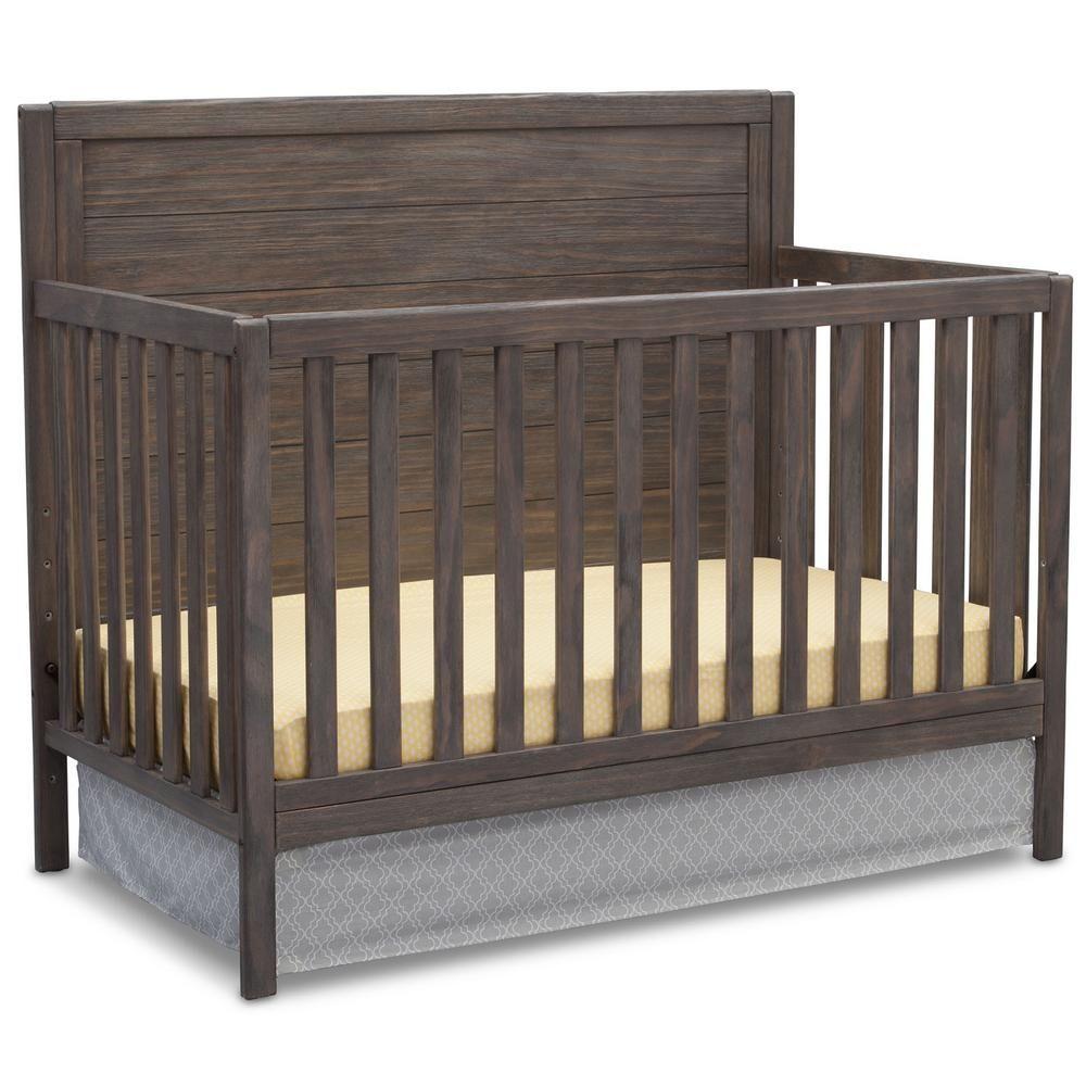 Delta Children Cambridge Rustic Grey 4-in-1 Convertible Crib
