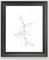 "One line minimal plant leaves drawing - Berry Framed Art Print - Scoop Black frame - Medium (gallery) - 20"" X 26"""