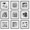 Estinnes 9 Piece Wood Picture Frame Set