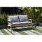 Darrah Deep Seating Teak Patio Sofa with Cushions